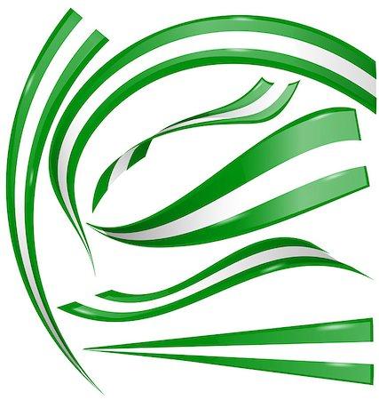 nigeria flag set on white background Stock Photo - Budget Royalty-Free & Subscription, Code: 400-08261622