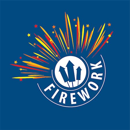 fireworks vector art - Abstract celebratory vector logo for salutes and fireworks Stock Photo - Budget Royalty-Free & Subscription, Code: 400-08262268