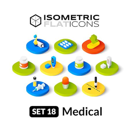 report icon - Isometric flat icons, 3D pictograms vector set 18 - Medical symbol collection Stock Photo - Budget Royalty-Free & Subscription, Code: 400-08262486