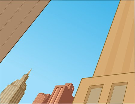City Sky Scene Background for Superhero Comics and Animation Stock Photo - Budget Royalty-Free & Subscription, Code: 400-08263945