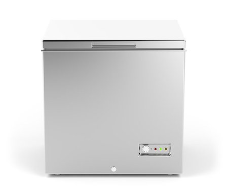 silver box - Small chest freezer in silver color Stock Photo - Budget Royalty-Free & Subscription, Code: 400-08284149