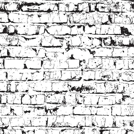 Brick wall overlay texture - for your design. EPS10 vector. Stock Photo - Budget Royalty-Free & Subscription, Code: 400-08295148