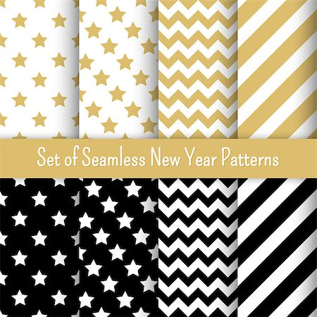 seamless - Set of  New Year party patterns, vector illustration. For banners and invitations. Stock Photo - Budget Royalty-Free & Subscription, Code: 400-08296401