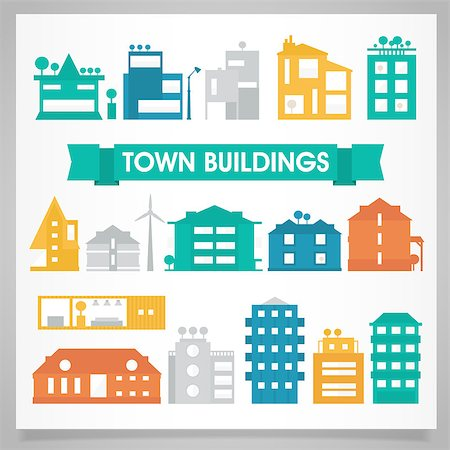 report icon - Town and city buildings and houses collection Stock Photo - Budget Royalty-Free & Subscription, Code: 400-08298304
