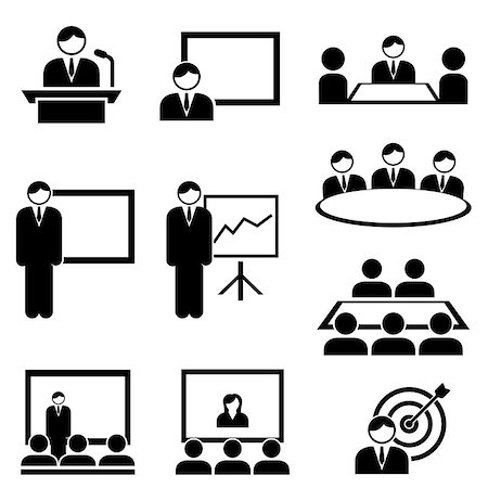 soleilc (artist) - Business presentation and meeting icon set Stock Photo - Budget Royalty-Free & Subscription, Code: 400-08298320