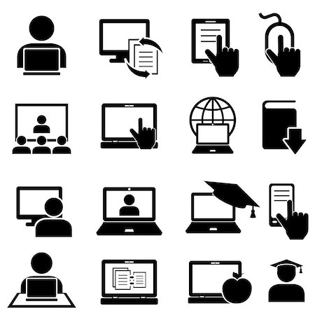 soleilc (artist) - Online education and learning icon set Stock Photo - Budget Royalty-Free & Subscription, Code: 400-08298323