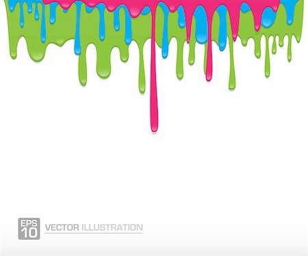 pouring ink vector - Paint colorful dripping background vector illustration Stock Photo - Budget Royalty-Free & Subscription, Code: 400-08298773