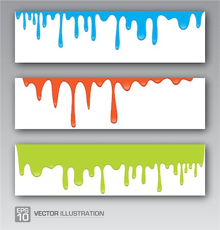 pouring ink vector - Paint colorful dripping background vector illustration Stock Photo - Budget Royalty-Free & Subscription, Code: 400-08299093