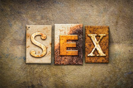 "people mating - The word ""SEX"" written in rusty metal letterpress type on an old aged leather background. Stock Photo - Budget Royalty-Free & Subscription, Code: 400-08299116"