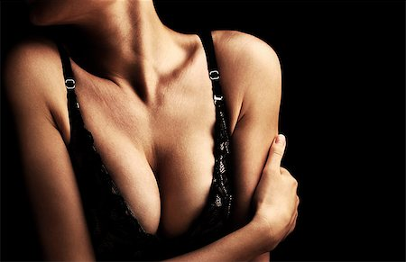 female naked large breasts or boobs - Beautiful sexy female body, healthy breast, beauty and health care concept Stock Photo - Budget Royalty-Free & Subscription, Code: 400-08299233