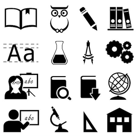 soleilc (artist) - Education, learning and school icon set Stock Photo - Budget Royalty-Free & Subscription, Code: 400-08292929