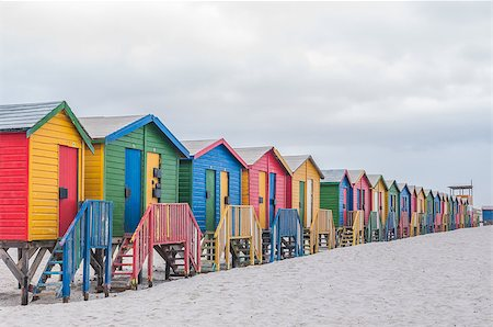 Multi-colored beach huts at Muizenberg in Cape Town, Western Cape Province of South Africa Stock Photo - Budget Royalty-Free & Subscription, Code: 400-08314022