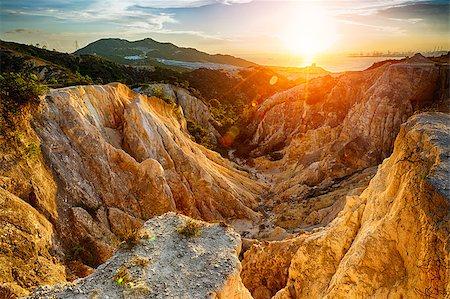 Grand Canyon in hong kong at sunset Stock Photo - Budget Royalty-Free & Subscription, Code: 400-08335631