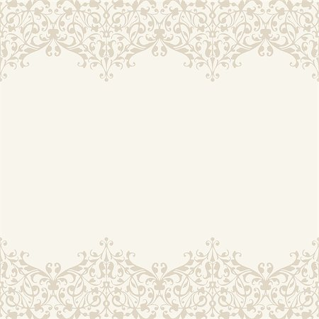 Vector Wedding invitation or greeting card with lace border Stock Photo - Budget Royalty-Free & Subscription, Code: 400-08337943