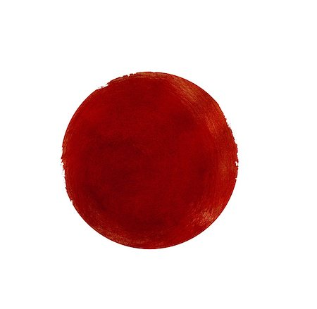 Abstract red watercolor painted circle isolated on white background Stock Photo - Budget Royalty-Free & Subscription, Code: 400-08333824