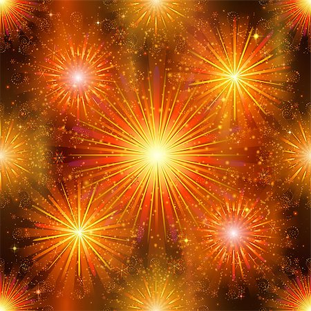 pink and purple fireworks - Firework background seamless, gold and orange on night sky. Pattern for holiday design. Vector eps10, contains transparencies Stock Photo - Budget Royalty-Free & Subscription, Code: 400-08348388