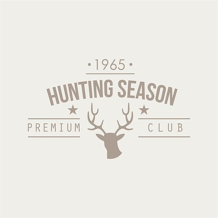 deer hunt - Hunting Vintage Vector Emblems, Icons and Badges. Vector Illustration Stock Photo - Budget Royalty-Free & Subscription, Code: 400-08348418