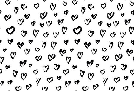 simsearch:400-04597082,k - Seamless background pattern with hand drawn textured hearts, vector illustration Stock Photo - Budget Royalty-Free & Subscription, Code: 400-08348450