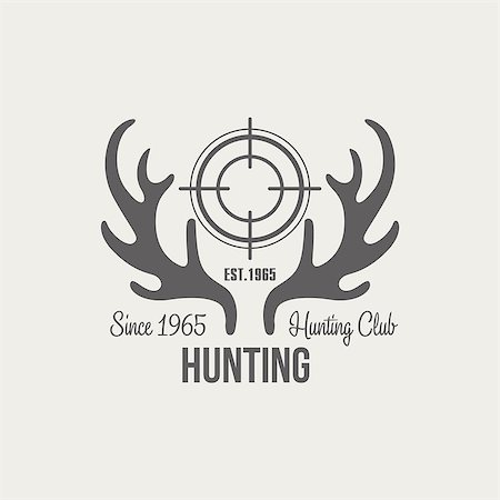 deer hunt - Hunting Vintage Vector Emblems, Icons and Badges. Vector Illustration Stock Photo - Budget Royalty-Free & Subscription, Code: 400-08348523