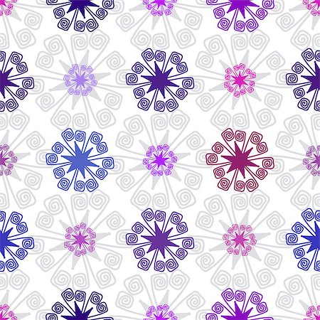 pink and purple fireworks - Seamless white christmas pattern with colorful snowflakes, vector eps 10 Stock Photo - Budget Royalty-Free & Subscription, Code: 400-08340472