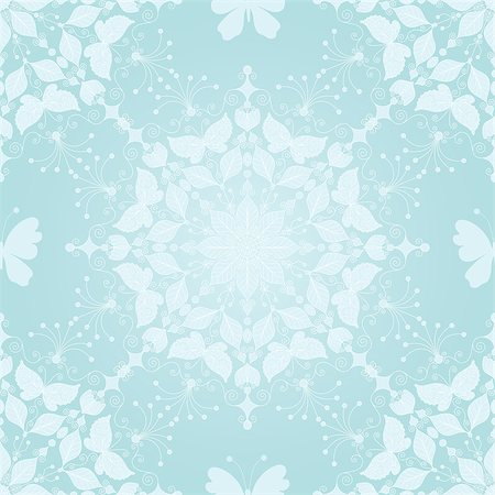 Seamless gentle christmas pattern with snowflakes and butterfly, vector eps 10 Stock Photo - Budget Royalty-Free & Subscription, Code: 400-08341225