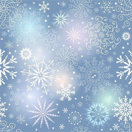 pink and purple fireworks - Seamless gentle colorful christmas pattern with translucent snowflakes, vector eps 10 Stock Photo - Budget Royalty-Free & Subscription, Code: 400-08341359