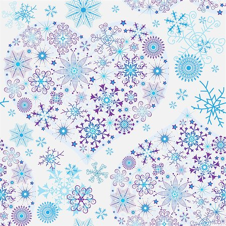 pink and purple fireworks - Seamless white christmas pattern with glowing snowflakes and snow hearts, vector Stock Photo - Budget Royalty-Free & Subscription, Code: 400-08342851