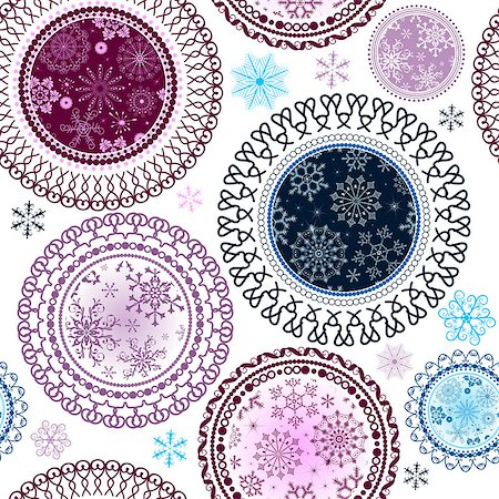 pink and purple fireworks - Seamless white christmas pattern with snowflakes and snow colorful balls, vector Stock Photo - Budget Royalty-Free & Subscription, Code: 400-08342852