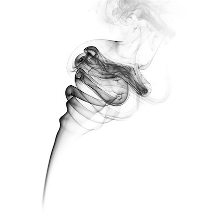 simsearch:400-05119507,k - Abstract black smoke swirls on white background Stock Photo - Budget Royalty-Free & Subscription, Code: 400-08371659