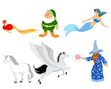 frbird - Vector illustration of a six fairy-tale characters Stock Photo - Budget Royalty-Free & Subscription, Code: 400-08372802