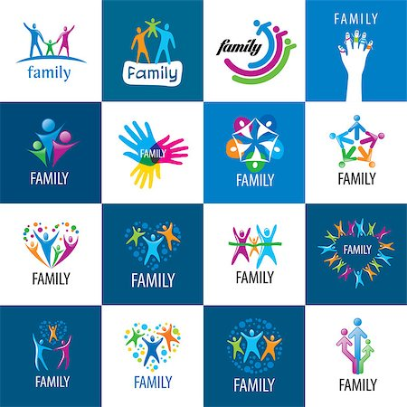 set of vector signs for the family and the union people Stock Photo - Budget Royalty-Free & Subscription, Code: 400-08406335
