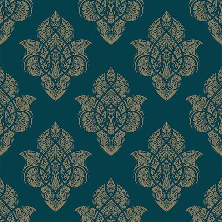 seamless floral - Seamless background from a floral ornament, Fashionable modern wallpaper or textile Stock Photo - Budget Royalty-Free & Subscription, Code: 400-08407256