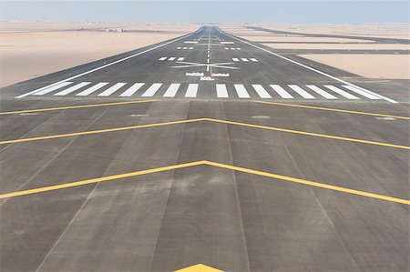 Aerial panoramic view of a commercial airport runway with connections and taxiways Stock Photo - Budget Royalty-Free & Subscription, Code: 400-08407643
