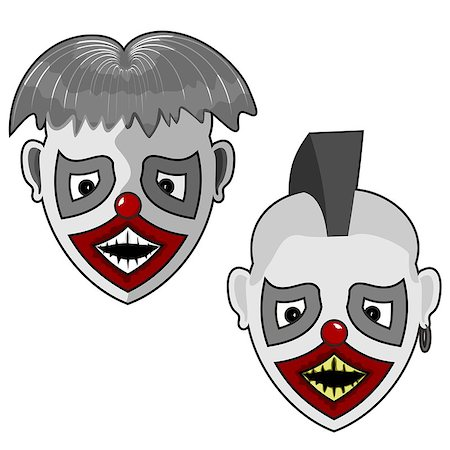 two scary facial hair and a little punk for your use Stock Photo - Budget Royalty-Free & Subscription, Code: 400-08407777