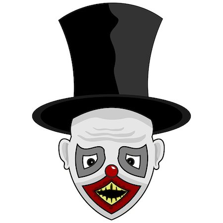 scary face with a tall hat for you Stock Photo - Budget Royalty-Free & Subscription, Code: 400-08407778
