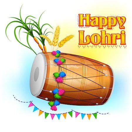 punjabi - illustration of Happy Lohri background for Punjabi festival Stock Photo - Budget Royalty-Free & Subscription, Code: 400-08409976