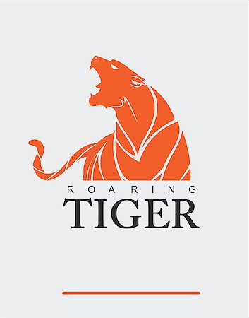 roar lion head picture - Fearless Tiger. Roaring Predator. Roaring Tiger. Tiger head, elegant tiger head. tiger half body. tiger head, roaring fang face. Combine with text Stock Photo - Budget Royalty-Free & Subscription, Code: 400-08403107