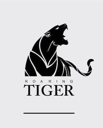 roar lion head picture - Fearless Tiger. Roaring Predator. Roaring Tiger. Tiger head, elegant tiger head. tiger half body. tiger head, roaring fang face. Combine with text Stock Photo - Budget Royalty-Free & Subscription, Code: 400-08403111
