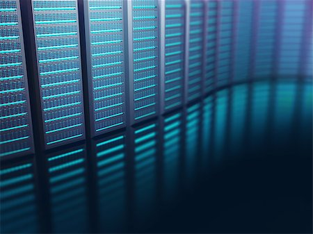 Servers lined up on an abstract background. Abstract image on technology concept. Stock Photo - Budget Royalty-Free & Subscription, Code: 400-08410236