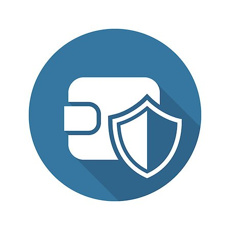 Wallet Protection Icon. Flat Design. Business Concept Isolated Illustration. Stock Photo - Budget Royalty-Free & Subscription, Code: 400-08413356