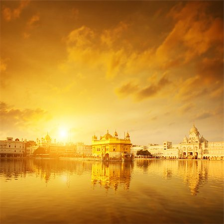 punjabi - Golden sunrise at Golden Temple in Amritsar, Punjab, India. Stock Photo - Budget Royalty-Free & Subscription, Code: 400-08429300