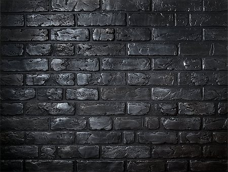 Beautiful background made of old black bricks Stock Photo - Budget Royalty-Free & Subscription, Code: 400-08433205