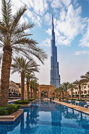Burj Khalifa Building on a sunny day in Dubai, UAE, Middle East Stock Photo - Budget Royalty-Free & Subscription, Code: 400-08433929