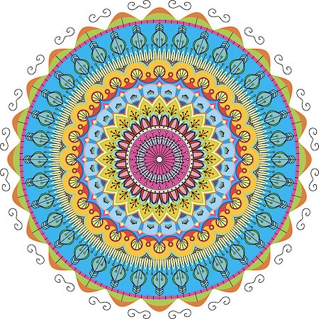 very beautiful color patterns arranged in a circle Stock Photo - Budget Royalty-Free & Subscription, Code: 400-08495714