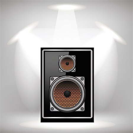 silver box - Musical Black Speaker on Light Gray Background Stock Photo - Budget Royalty-Free & Subscription, Code: 400-08497552