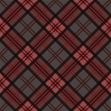 seamless - Detailed Diagonal seamless vector pattern as a tartan plaid mainly in brown, red and gray colors Stock Photo - Budget Royalty-Free & Subscription, Code: 400-08492564