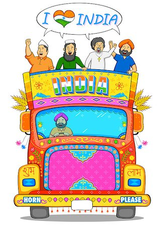 punjabi - illustration of people of different religion showing Unity in Diversity of India Stock Photo - Budget Royalty-Free & Subscription, Code: 400-08493733