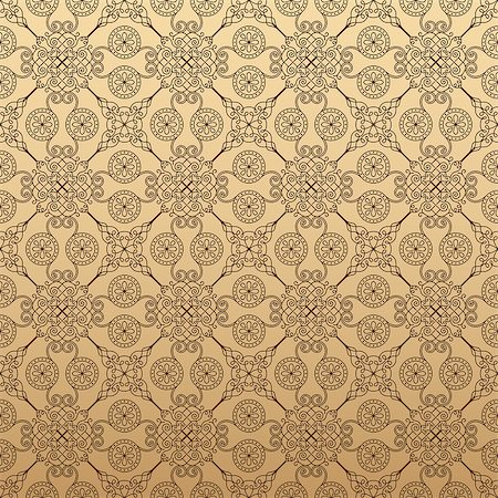 seamless floral - Illustration of seamless floral background in vintage style. Wallpaper with abstract patterns in the form of tiles. Ornament for design and print texture Stock Photo - Budget Royalty-Free & Subscription, Code: 400-08500224