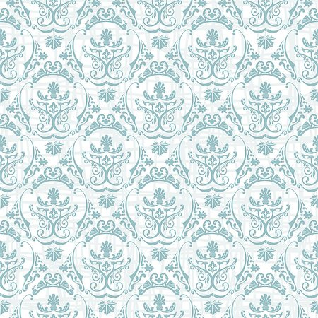 seamless floral - Vector seamless pattern with art ornament. Vintage elements for design in Victorian style. Ornamental lace tracery background. Ornate floral decor for wallpaper. Endless texture Stock Photo - Budget Royalty-Free & Subscription, Code: 400-08500297