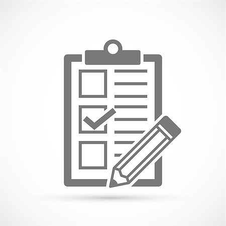 report icon - Checklist with tick and pencil. Vector Form Stock Photo - Budget Royalty-Free & Subscription, Code: 400-08532470
